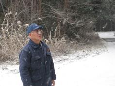 末崎町の植林について語る佐々木さん